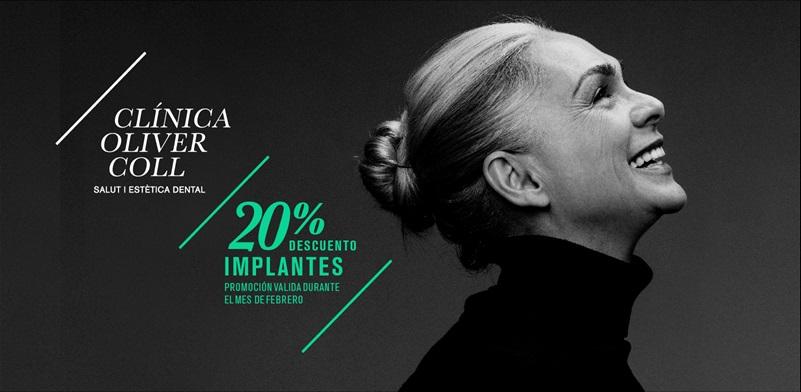 Descuento implantes dentales Mataró febrero